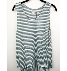 Neesha Striped Double Layer tunic Grey