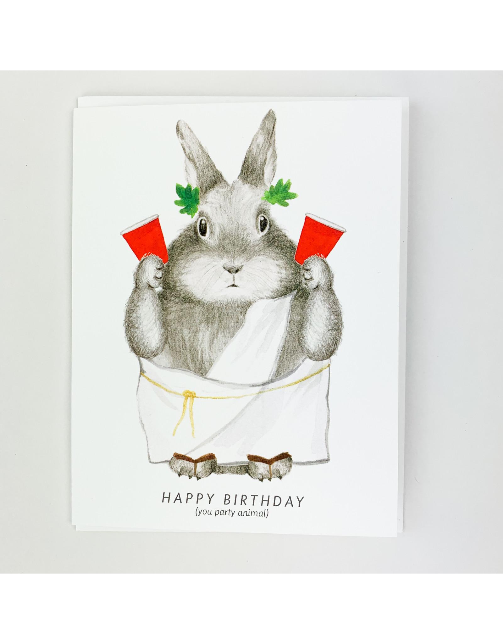 Dear Hancock Party Animal bunny