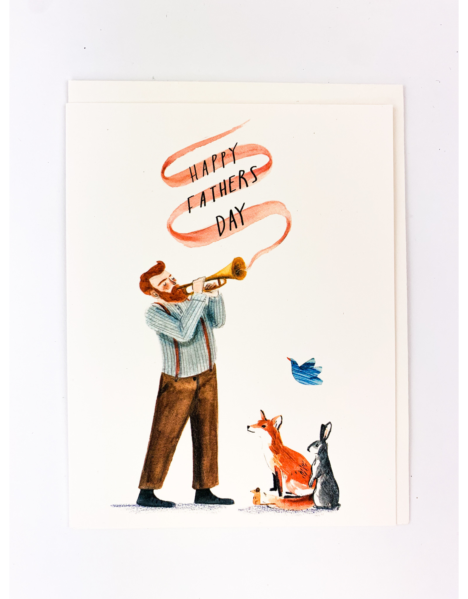 Red Cap Cards Trumpet Father's Day