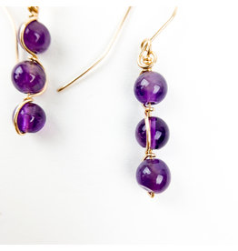 Nicole Collodoro Amethyst 3pc-Gold