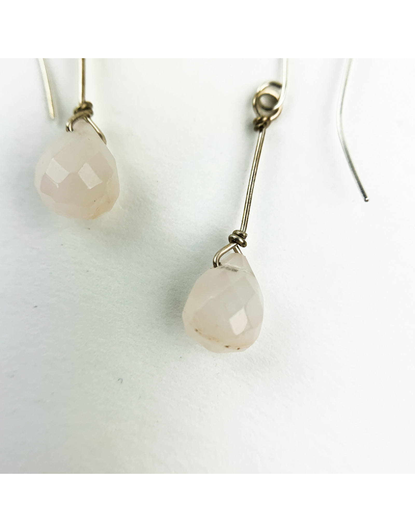 Nicole Collodoro Rose Quartz Earrings