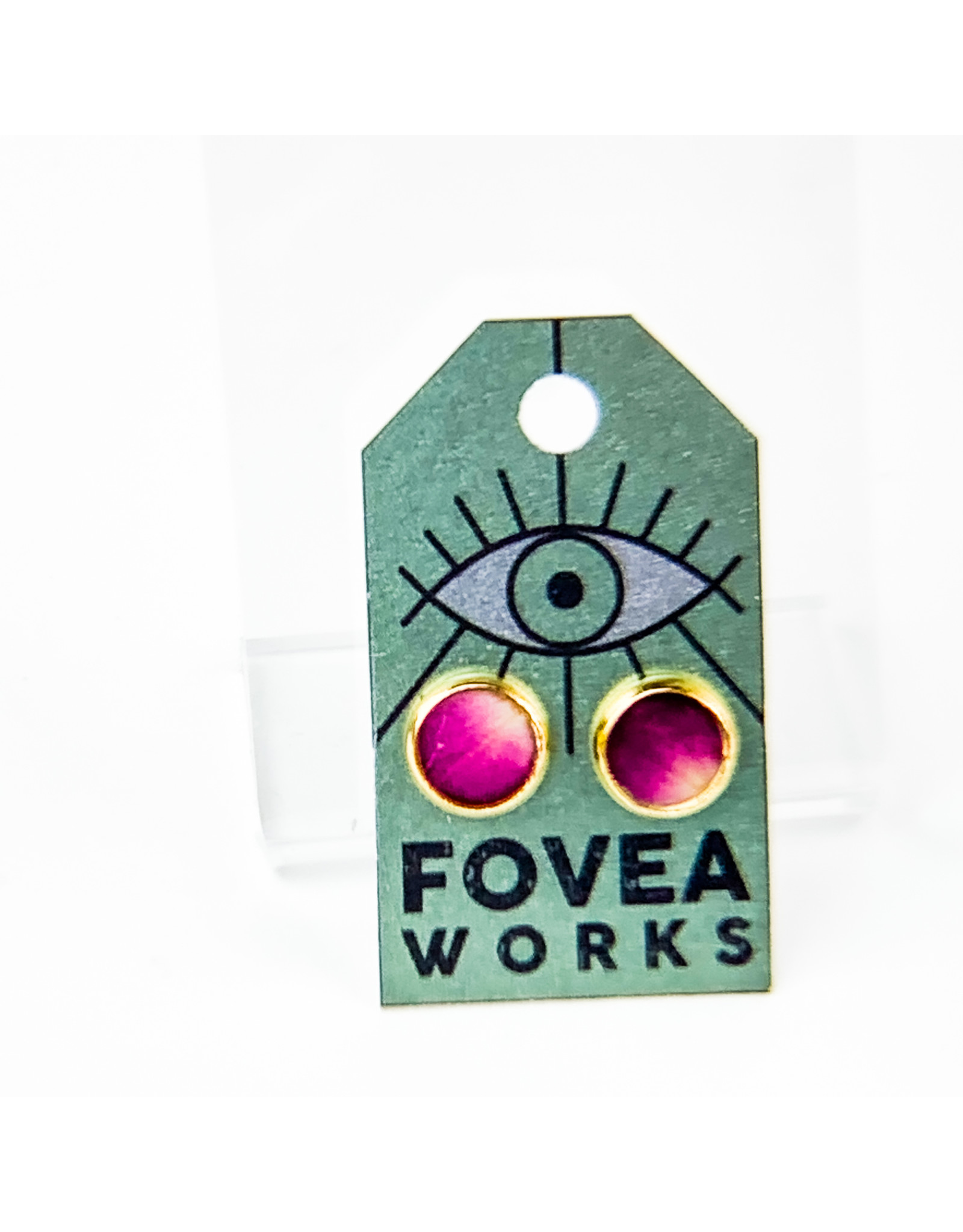 Fovea Works Consignment Artist FW48 Pansy and Rose Petals w Gold Plate