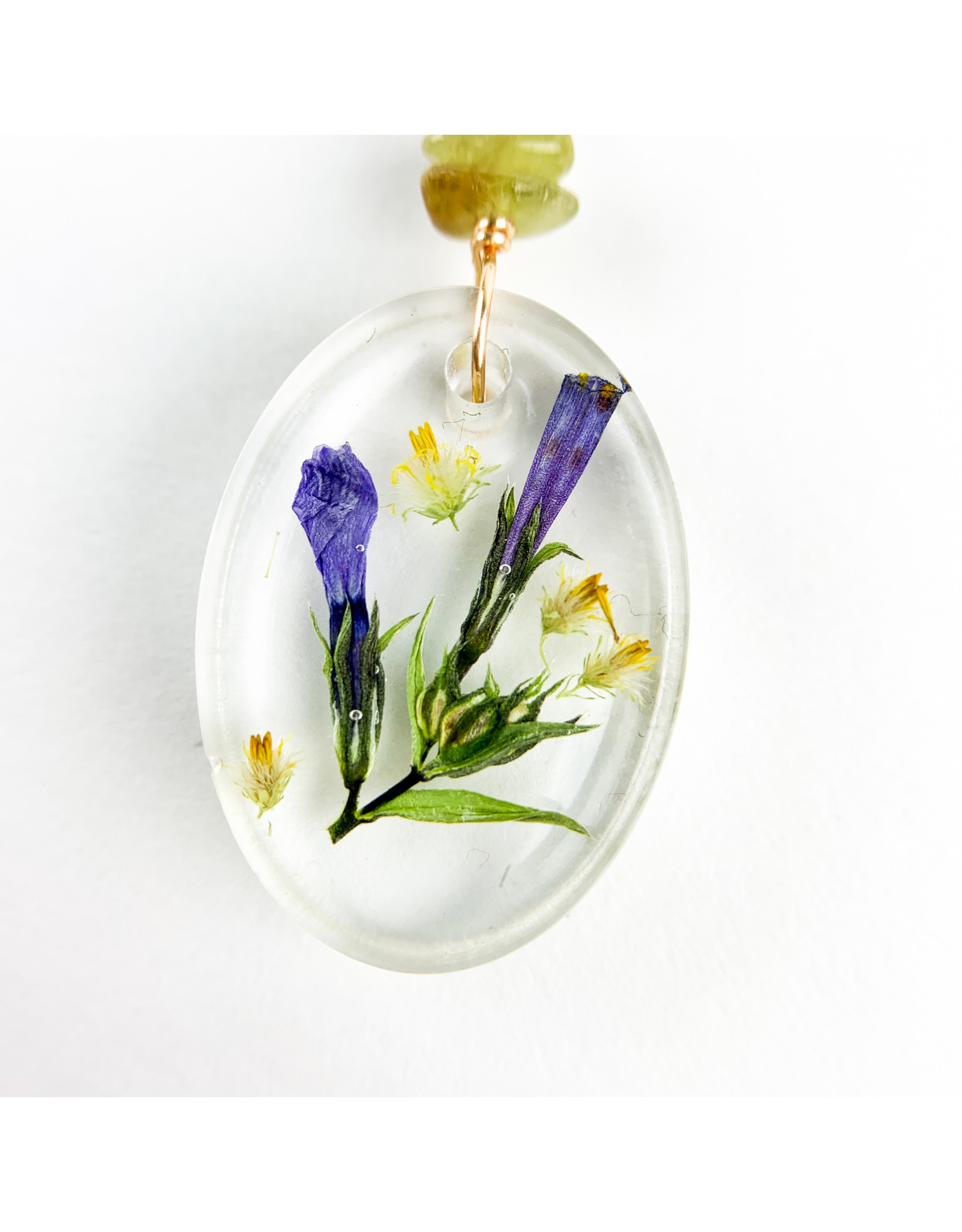 Fovea Works Consignment Artist FW46 Moss Phlox Ovals Gold Filled Garnet