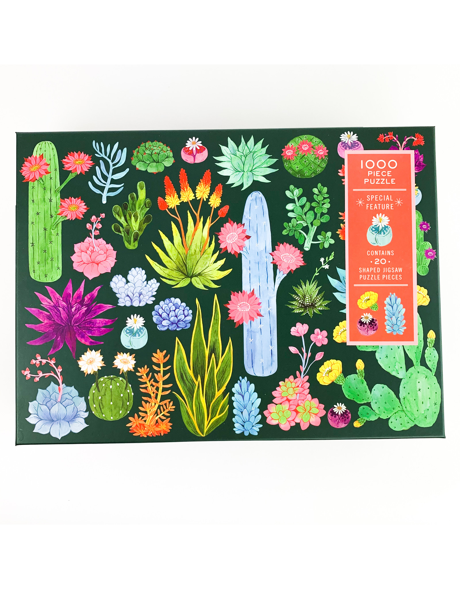 Chronicle Books Shaped Puzzle Dessert Floral (1000)