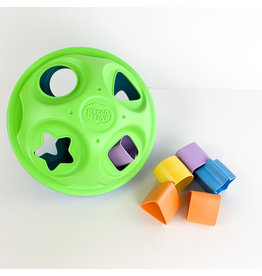 green toy Shape sorter toy