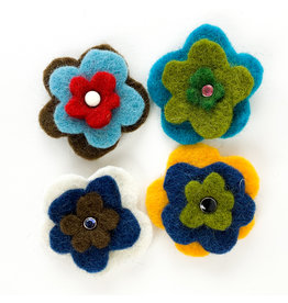 Nokomis Knitting Company Felted Flower Pins
