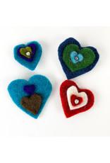 Nokomis Knitting Company Felted Heart Pins