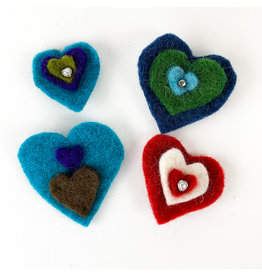 Nokomis Knitting Company Felted Heart Pins