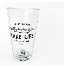 Northern Glasses Lake Life Fishing Pint