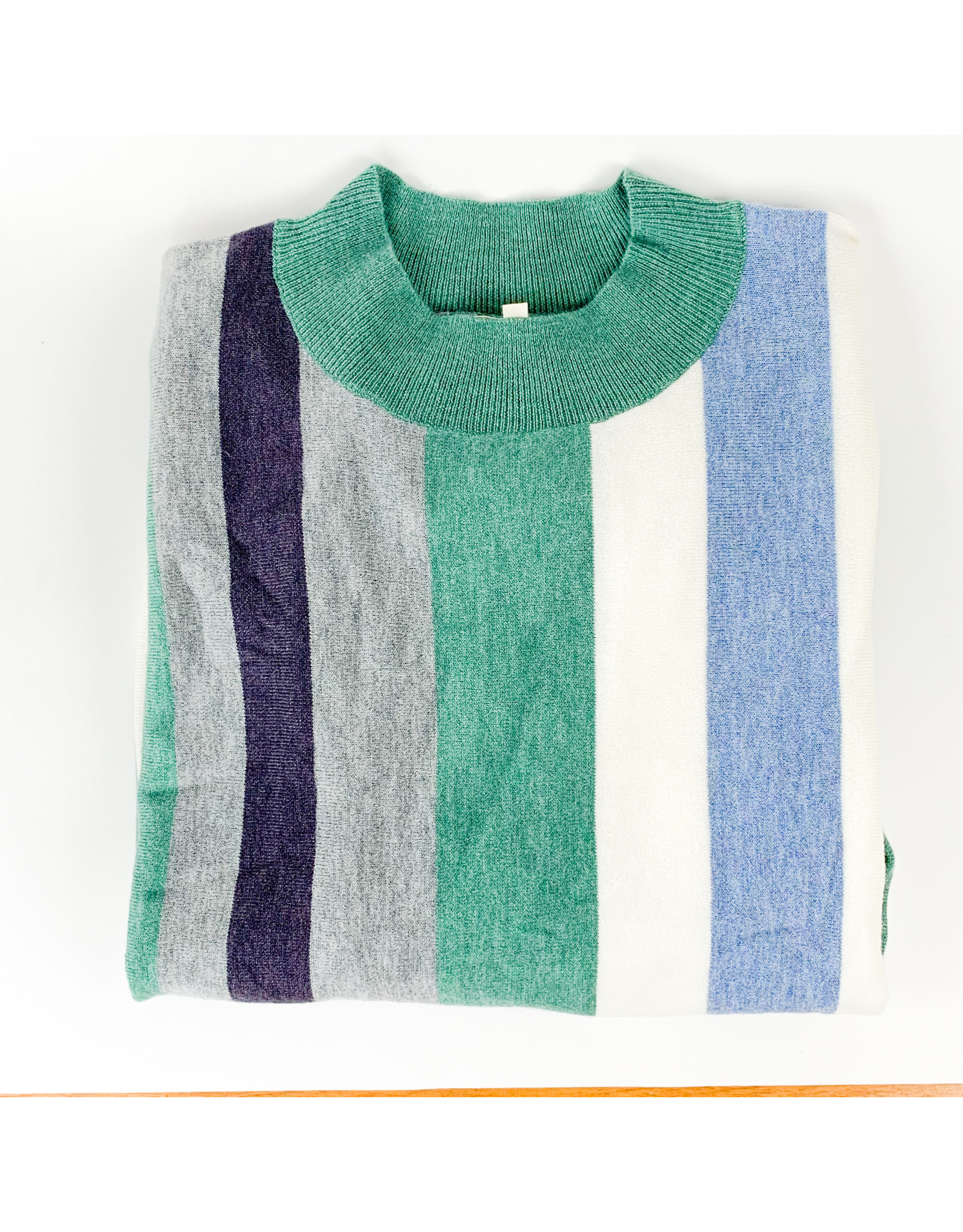 Mystree Mint Grey Blue Sweater