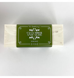 K. Hall Cucumber & Aloe soap