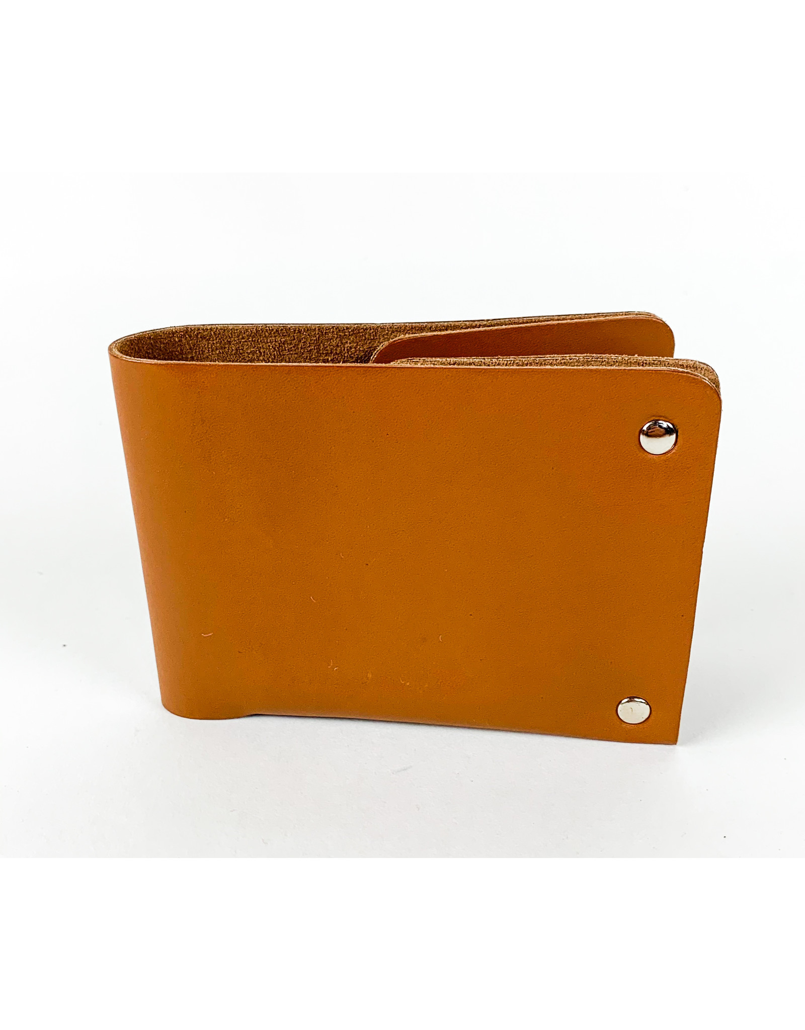 Kiko Leather Brown Unstitched Leather Billfold Wallet