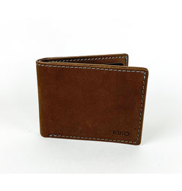 Kiko Leather Brown Bifold Wallet
