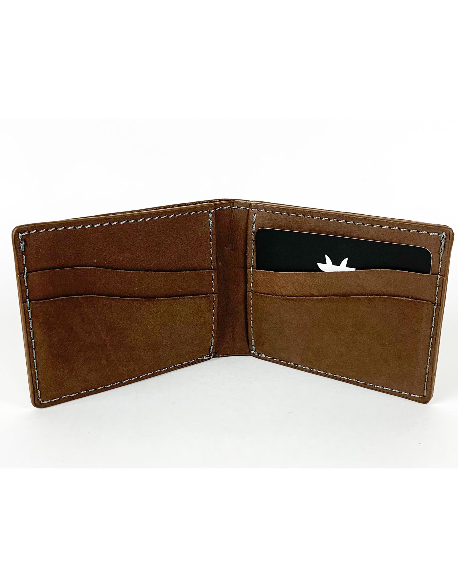 Kiko Leather Brown Bifold Wallet