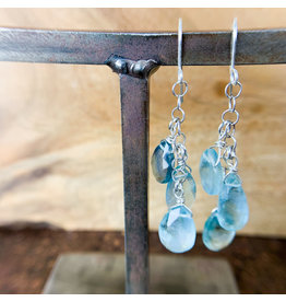 Green Fluorite 3pc Earrings