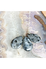 "Blue Labradorite 3pc on 22"" Sterling Chain - NC55"