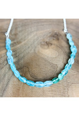 """Apatite on 21"""" Sterling Chain - NC49"""