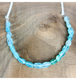 "Apatite on 21"" Sterling Chain"