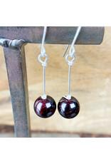 Garnet Sphere Earrings - NC23