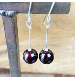 Garnet Sphere Earrings