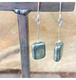 Pyrite Rectangle Earrings