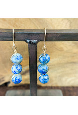 Lapis Lazuli 3pc Sphere Earrings - NC11