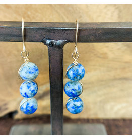 Lapis Lazuli 3pc Sphere Earrings