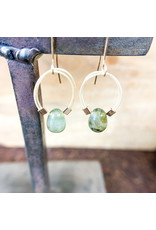 Labradorite Flex Wire Earrings Gold - NC63
