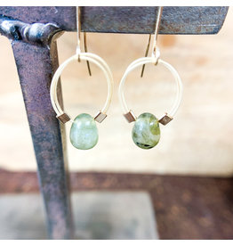 Labradorite Flex Wire Earrings Gold