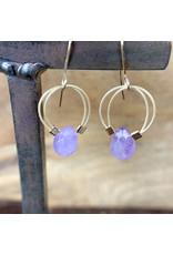 Amethyst Flex Wire Earrings Gold - NC50