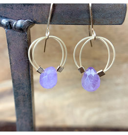 Amethyst Flex Wire Earrings Gold