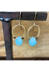Amazonite Flex Wire Earrings Gold - NC47