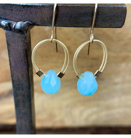 Amazonite Flex Wire Earrings Gold