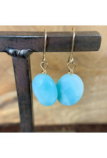 Amazonite Gold Earrings - NC41