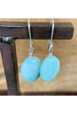 Amazonite Silver Earrings - NC40