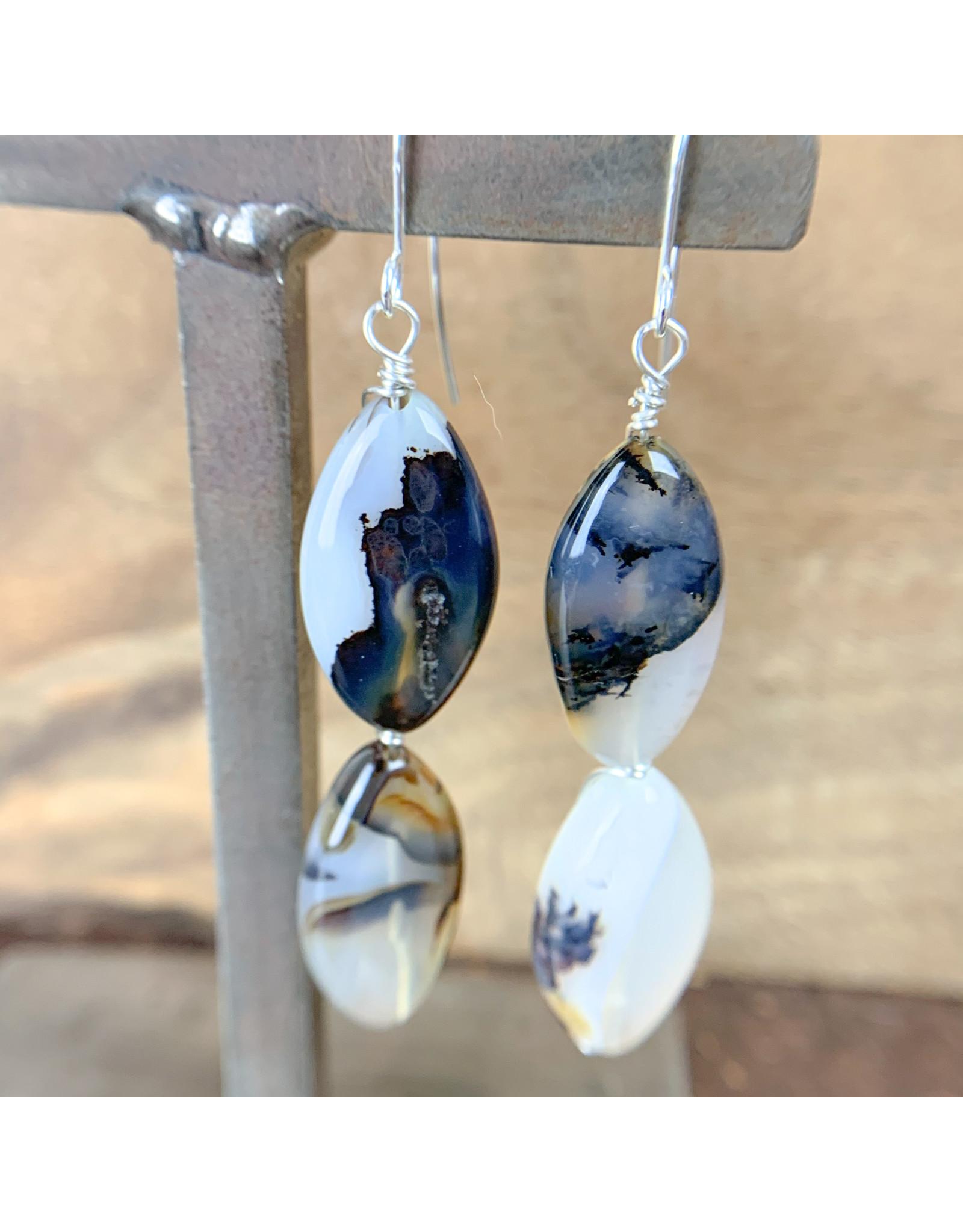 Montana Agate Earrings - NC32