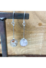 Faceted Agate Single Sphere Earrings - NC29