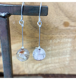 Faceted Agate Single Sphere Earrings