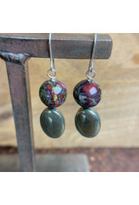 Jasper and Pyrite Earrings - NC28