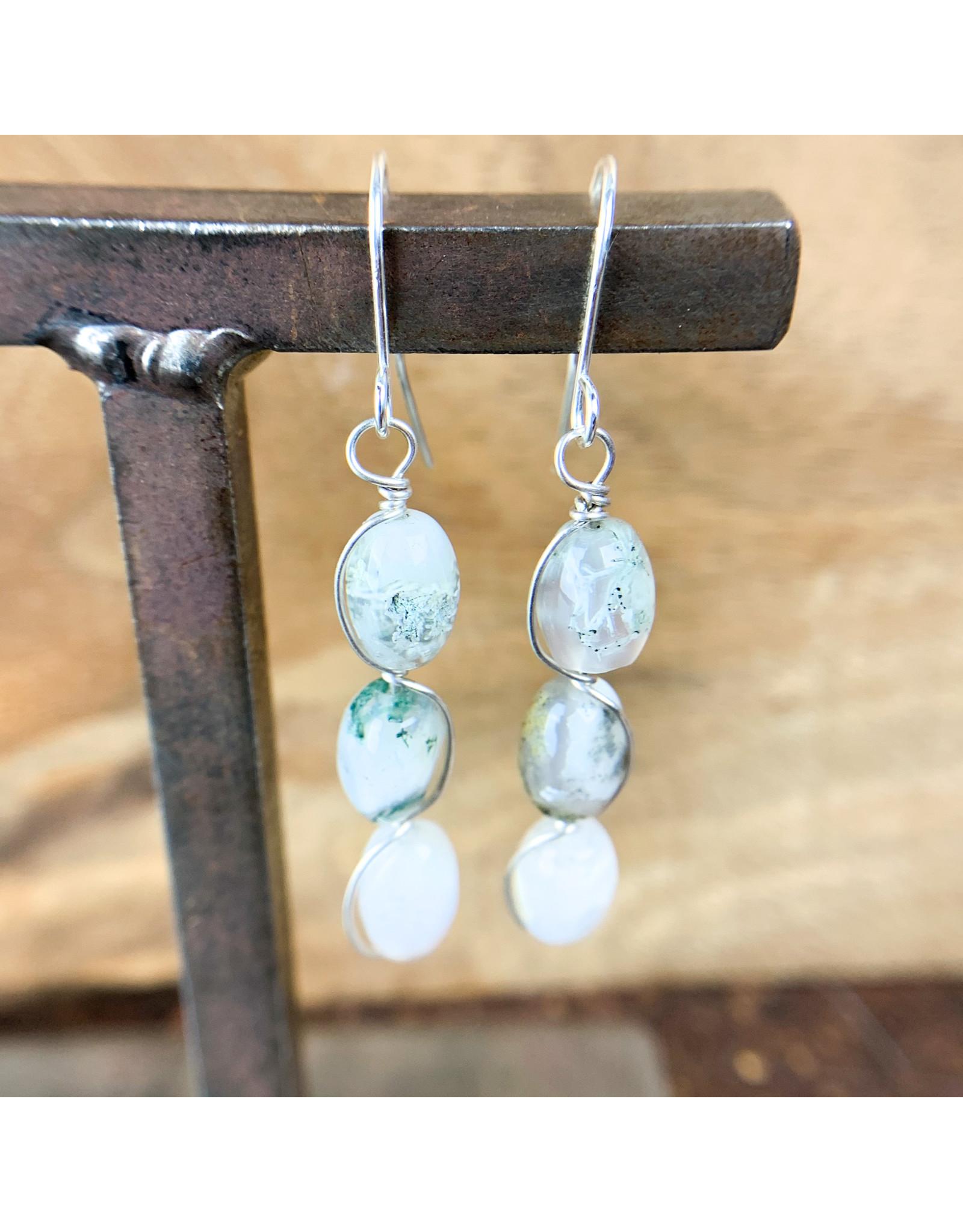 Moss Agate 3pc Earrings - NC18
