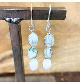 Moss Agate 3pc Earrings