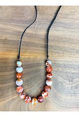 Agate Linen Necklace Long - NC1
