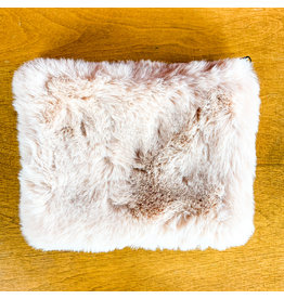 "Creative Co-Op Faux Fur Zip 8""  Pink"