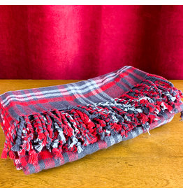 Creative Co-Op Plaid Throw Red