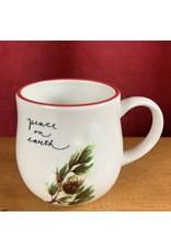 Creative Co-Op Stoneware Twig Mug Pine