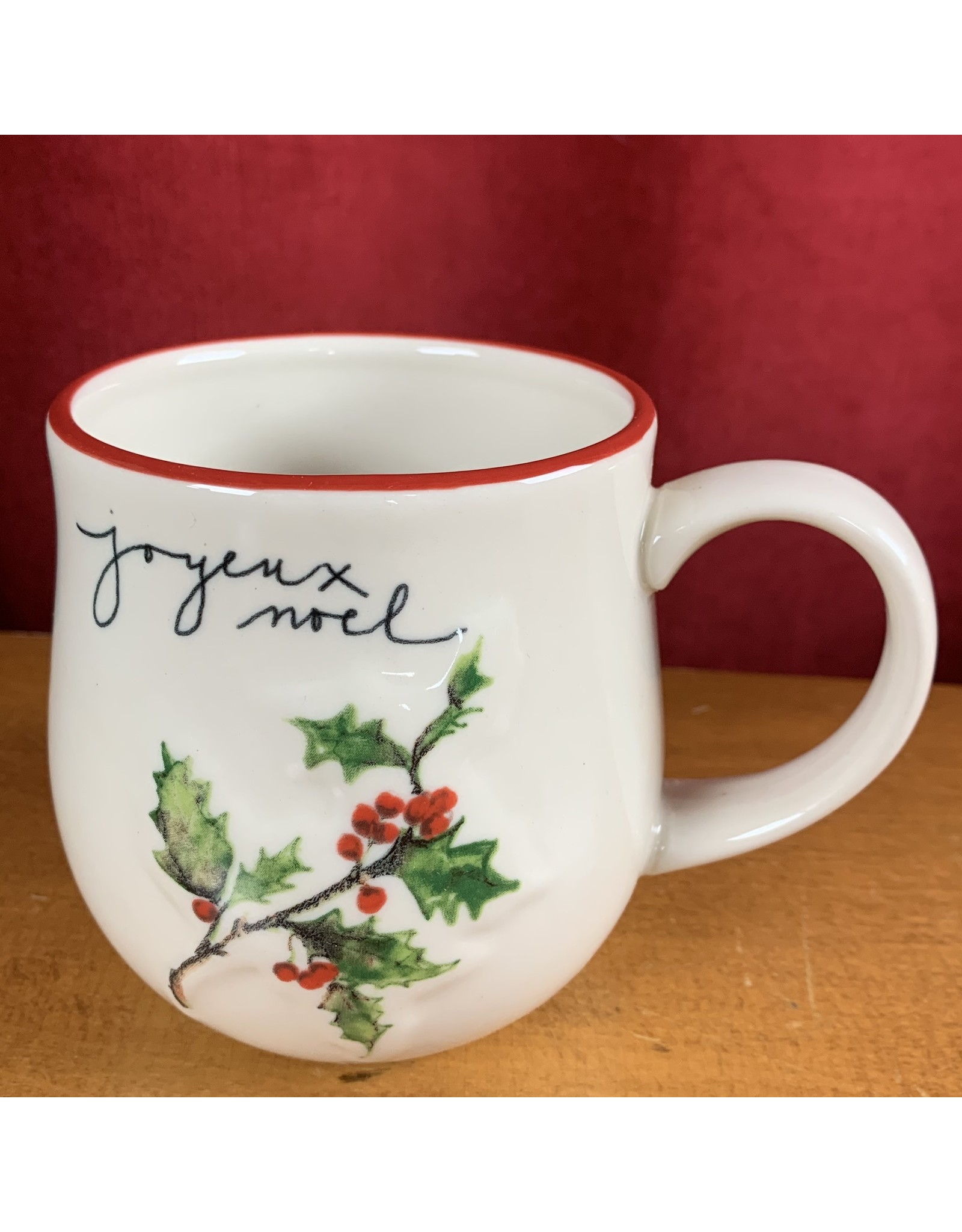 Creative Co-Op Stoneware Twig Mug Holly