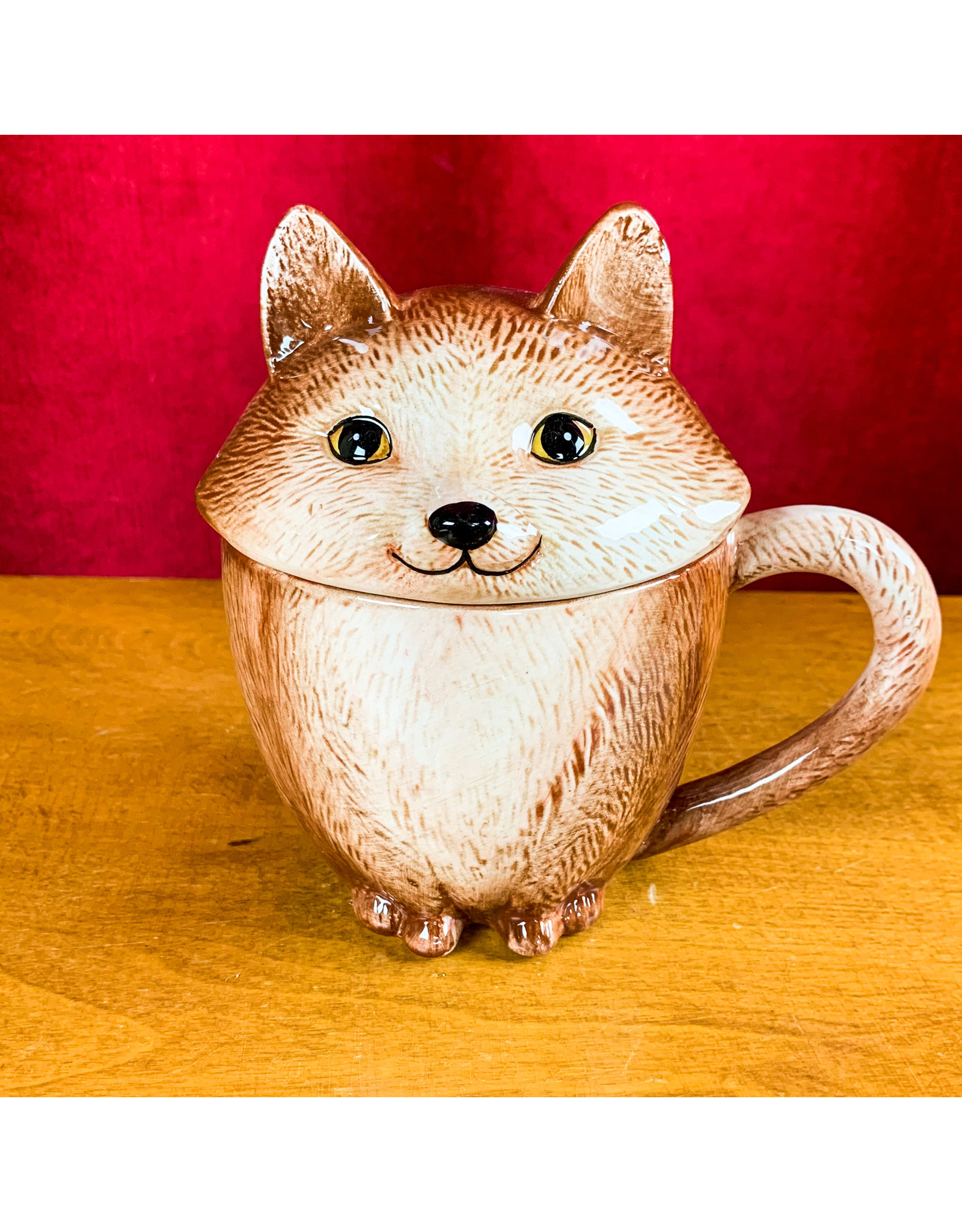 Creative Co-Op Stoneware Fox