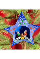 Tesoros Star Ornament with Nativity Peru