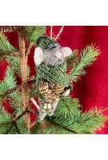 Creative Co-Op Wool Felt Mouse Bell