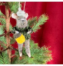 Creative Co-Op Wool Felt Mouse Acorn